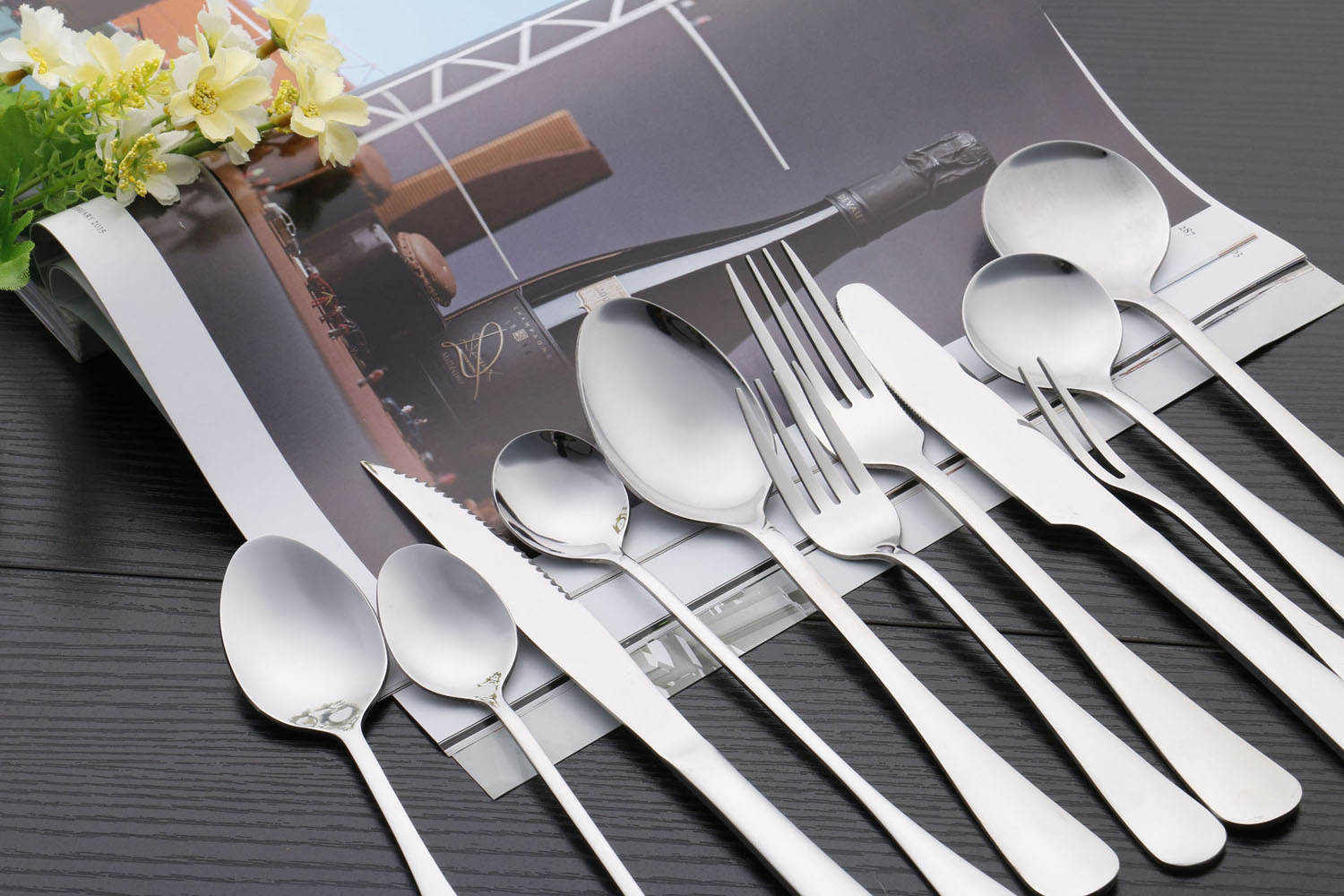 New design stainless steel cutlery and wok