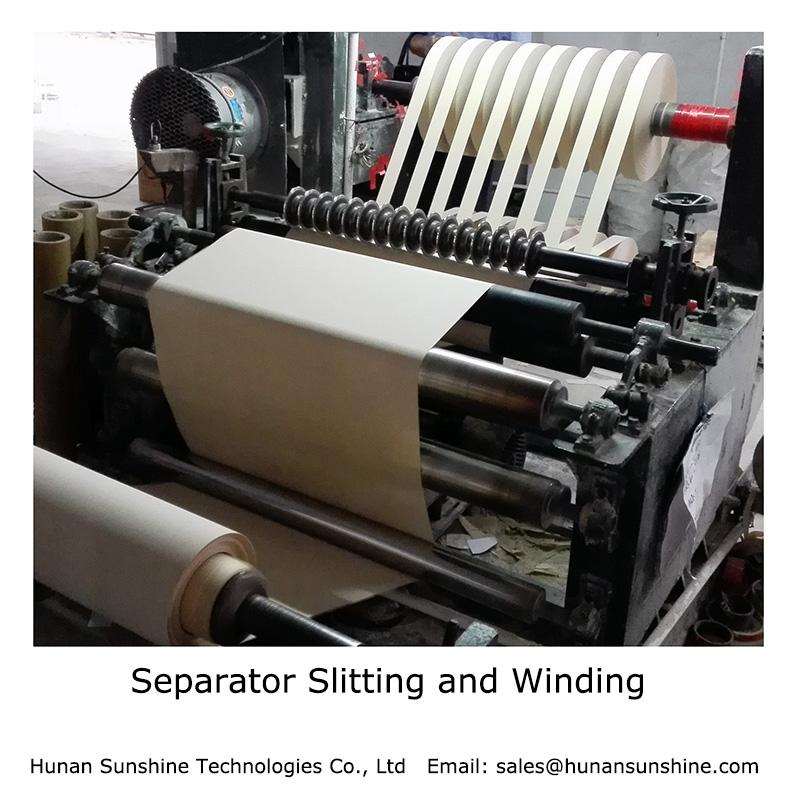 Separator Paper Slitting