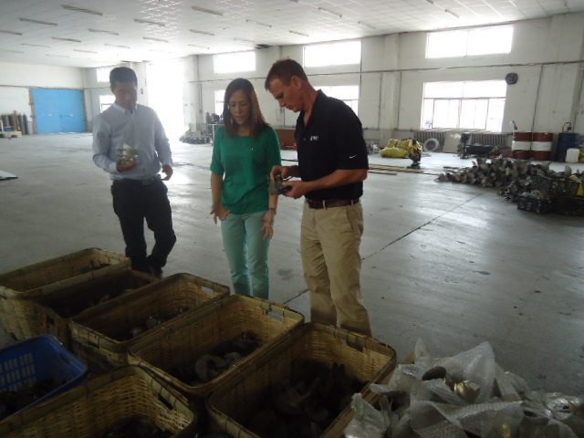 Our customers visiting our new factory