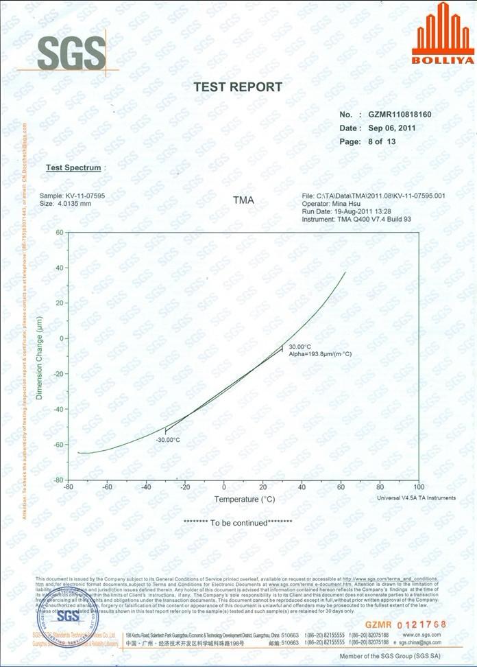 SGS Test Report 8