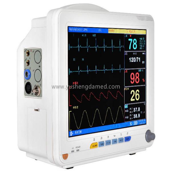 12.1 Multi-Parameter Patient Monitor ECG, NIBP, SpO2, Temp, Resp Optional Printer Hospital ICU Ccu
