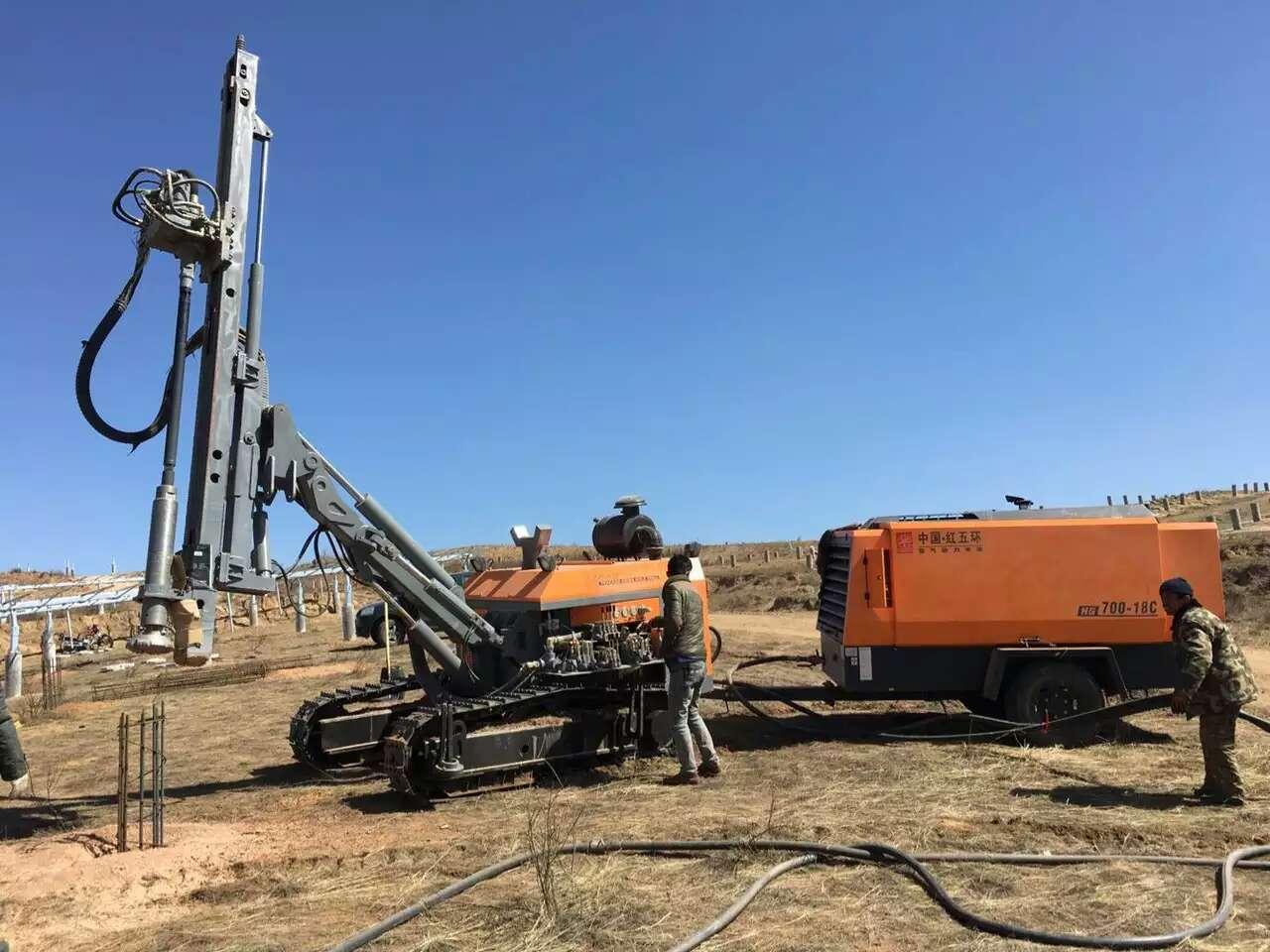 HG700M-18C Diesel Screw Air Compressor with Crawler Drilling Rig