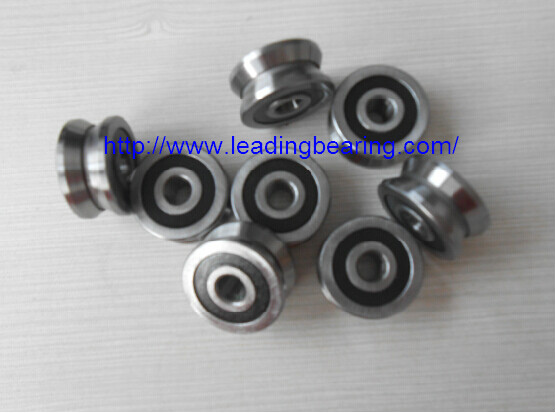 Track roller bearing with U groove or V groove