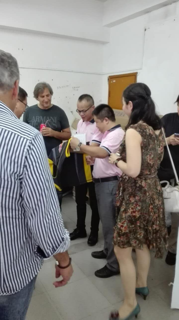 Clients visiting our factory