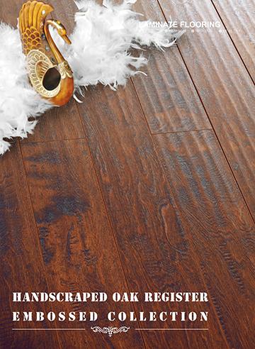 Embossed-in-Register(EIR) Handscraped HDF Laminate Flooring