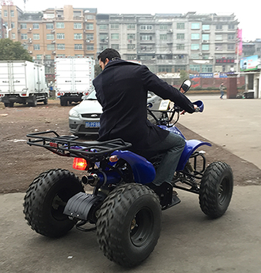 Client ride and check ATV quality