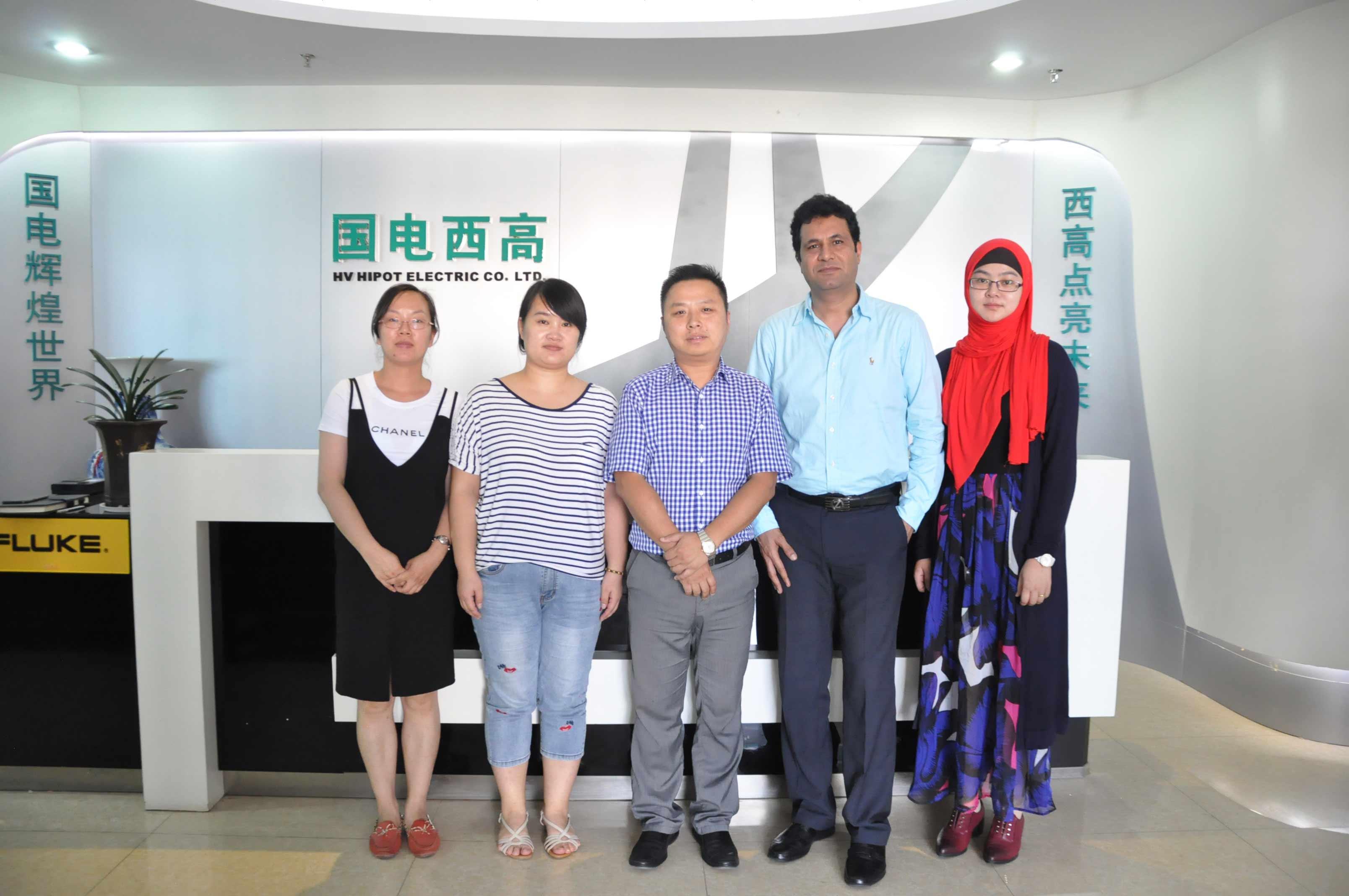 Pakistan clients visit HV Hipot