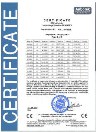 Fan Coil Unit Certified