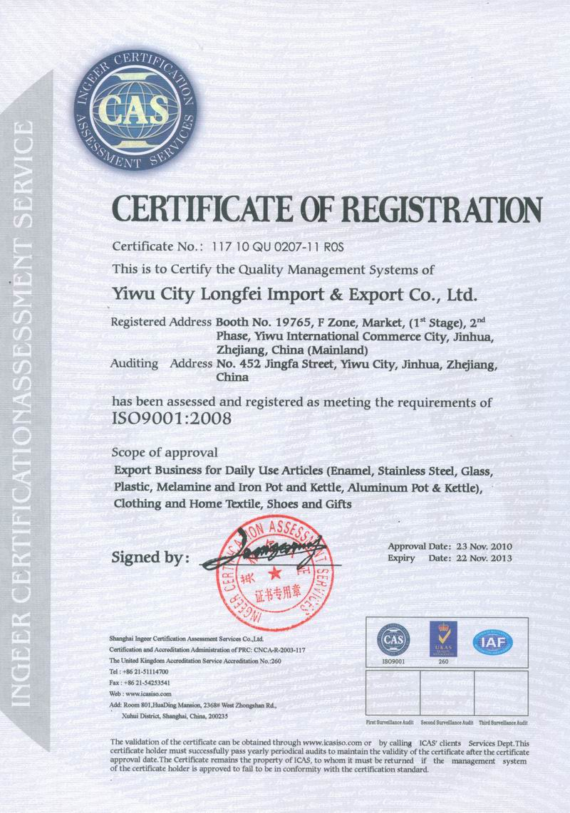 ISO9001:2008 Quality Managment Systems