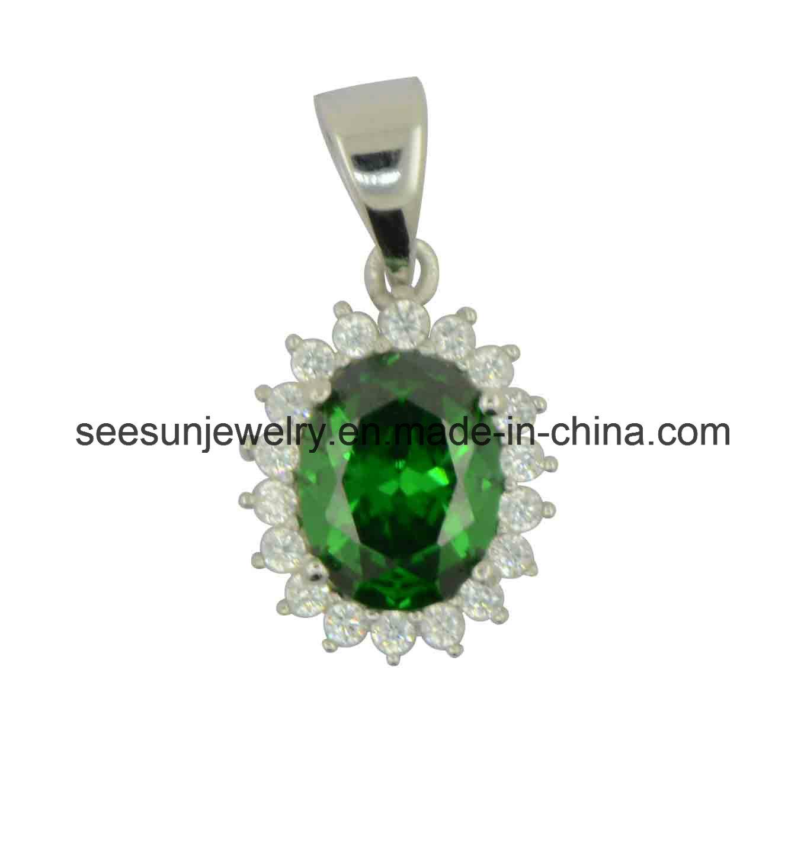 Best hotsale pendant with emerald green cz