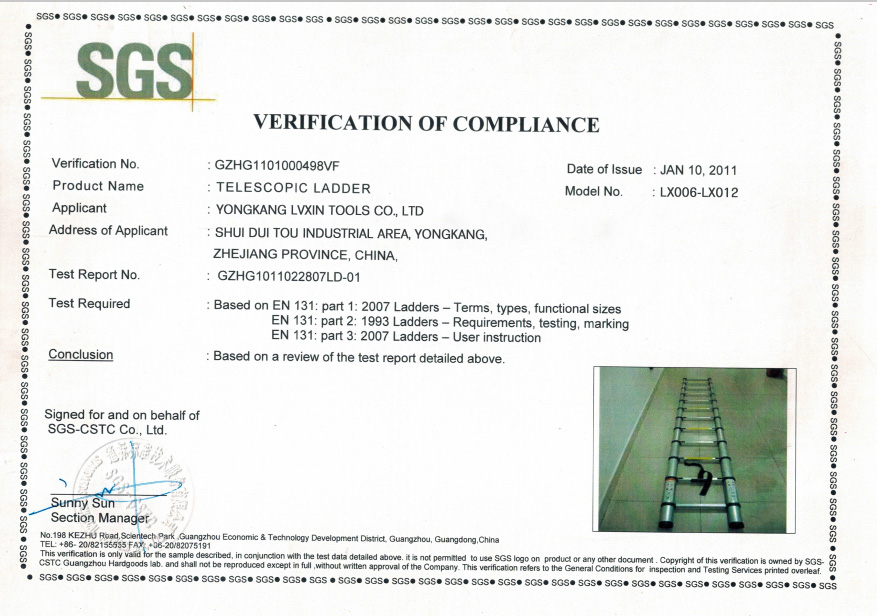 ladder certificate
