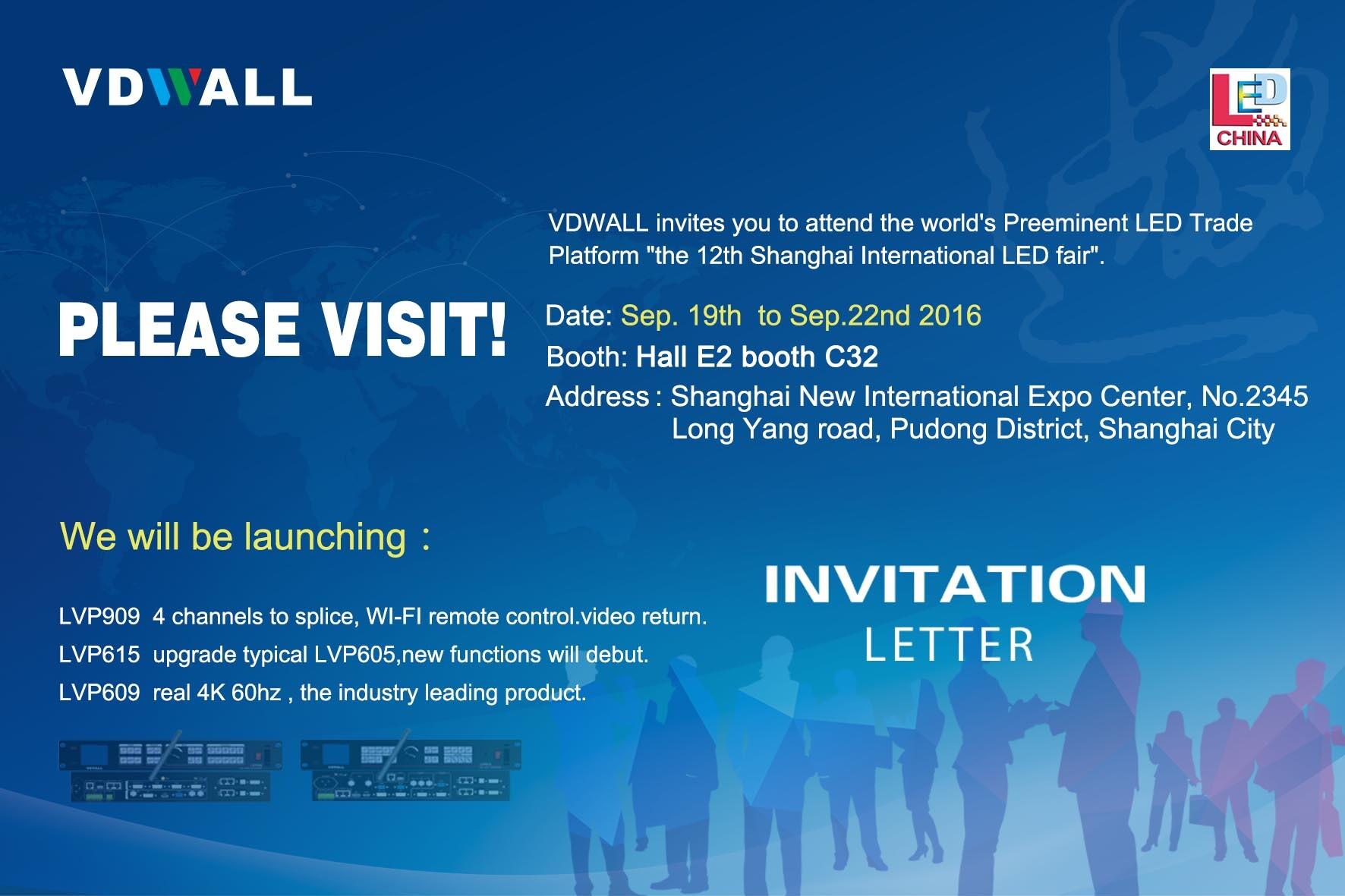 VDWALL will take part in 12th Shanghai International LED fair
