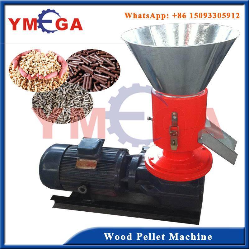 Flate Die sawdust straw wood pellet machine