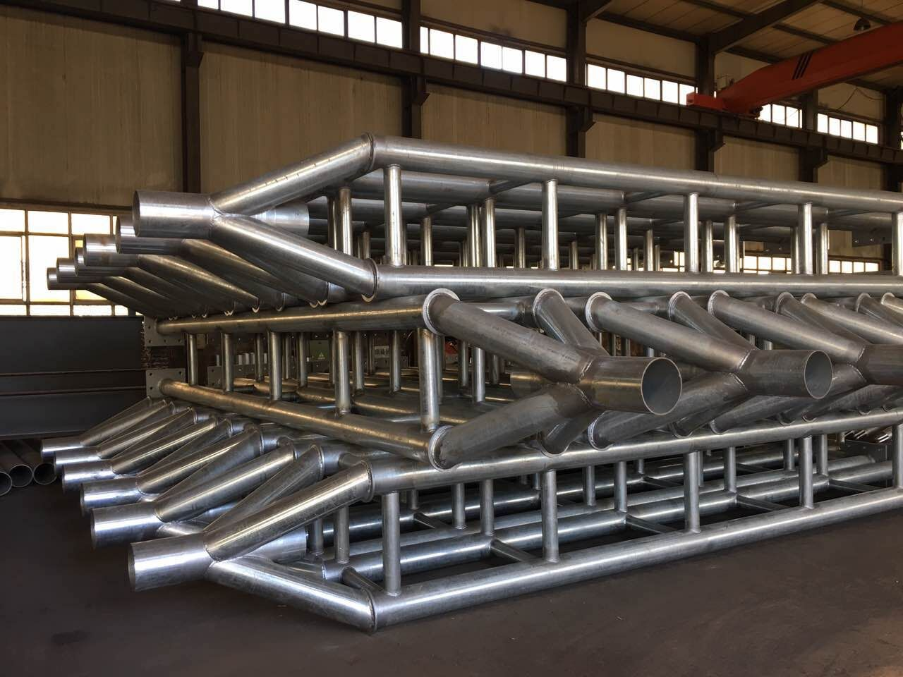 Finished Main Steel Structure of Membrane Structure project