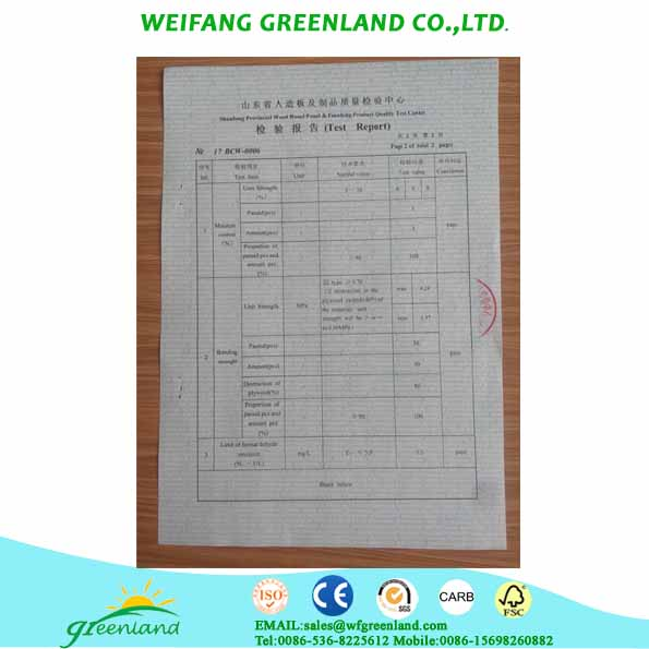 test report of plywood