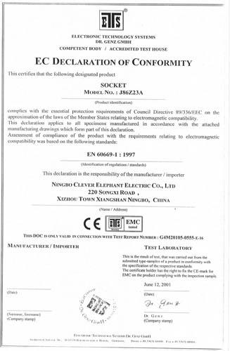 certificate CE1
