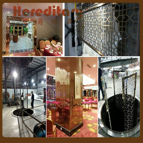 The Metal Screens in Zhongshan Xiaolan Hotel installed