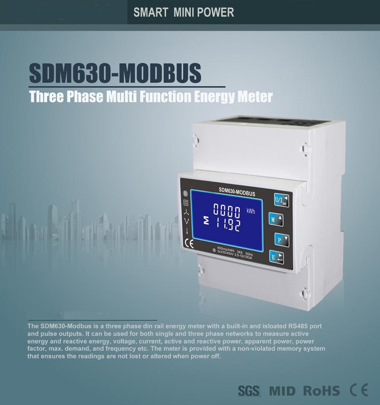 RS485 Modbus Electricity Energy Meter SDM630 Modbus