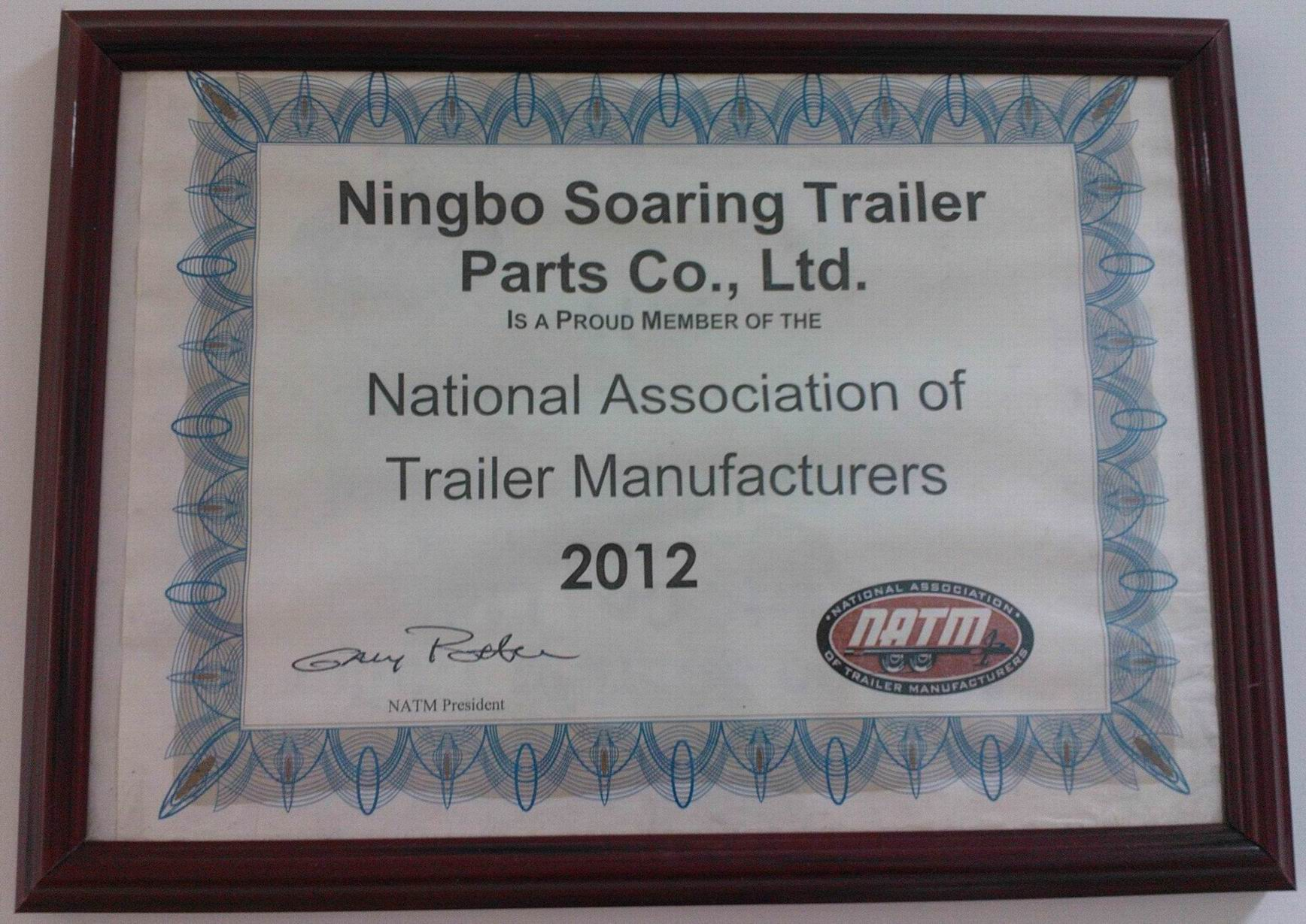 2012 Natioinal Association of Trailer Manufactures