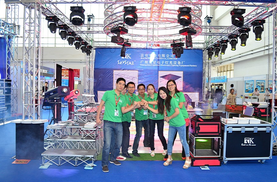 RK beijing exhibition hot sale truss flight cases stage