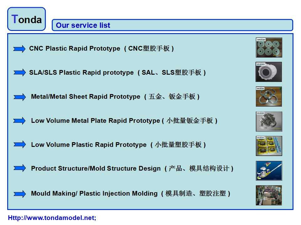 Our service list