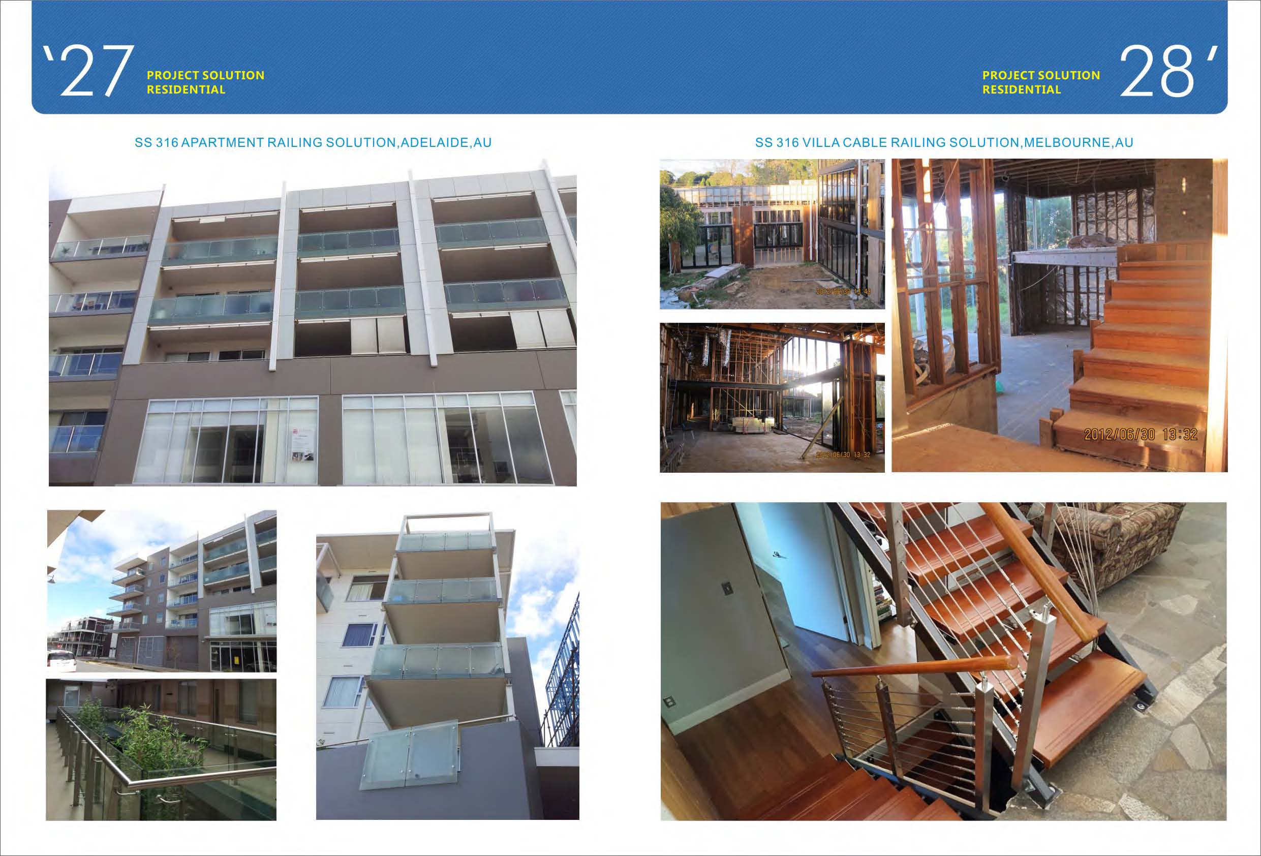 Australia Glass Railing and Staircase Projects