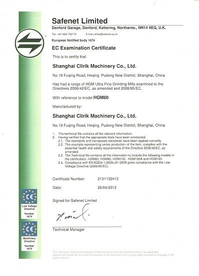 Clirik CE Certification