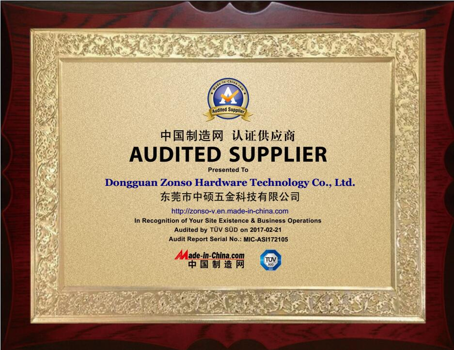 Zonso Audited supplier