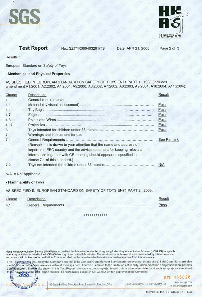 certificate EN71-2