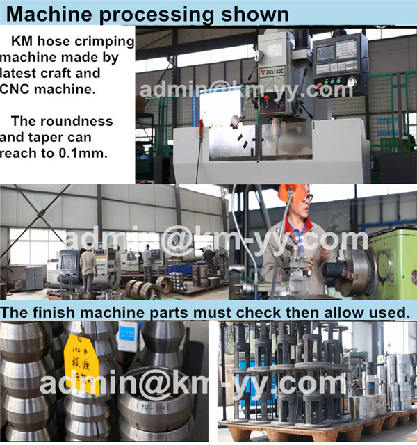 CNC machine to process hose crimping machine