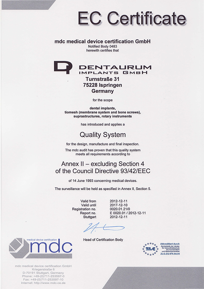 CE Certificate of Materials