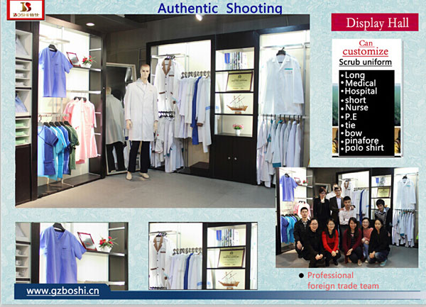 medical uniform showroom