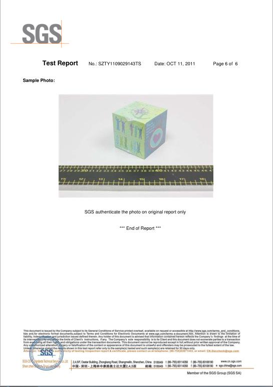 Magic cube EN71 test report Page6(SGS)