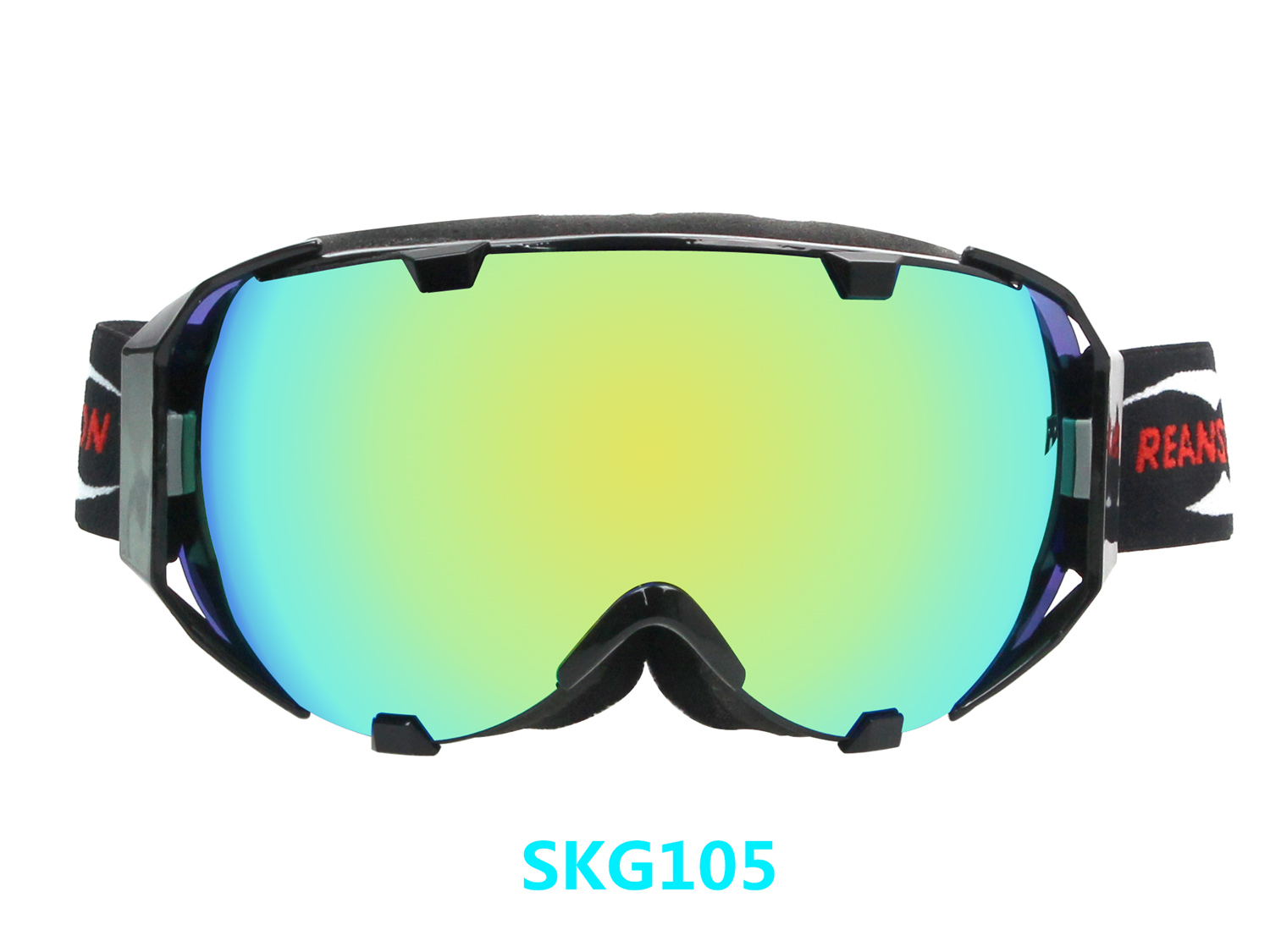 Latest Design Frameless Anti-fog Mirrored Skiing Goggles