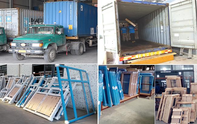 Aluminium Windows Packing & Loading