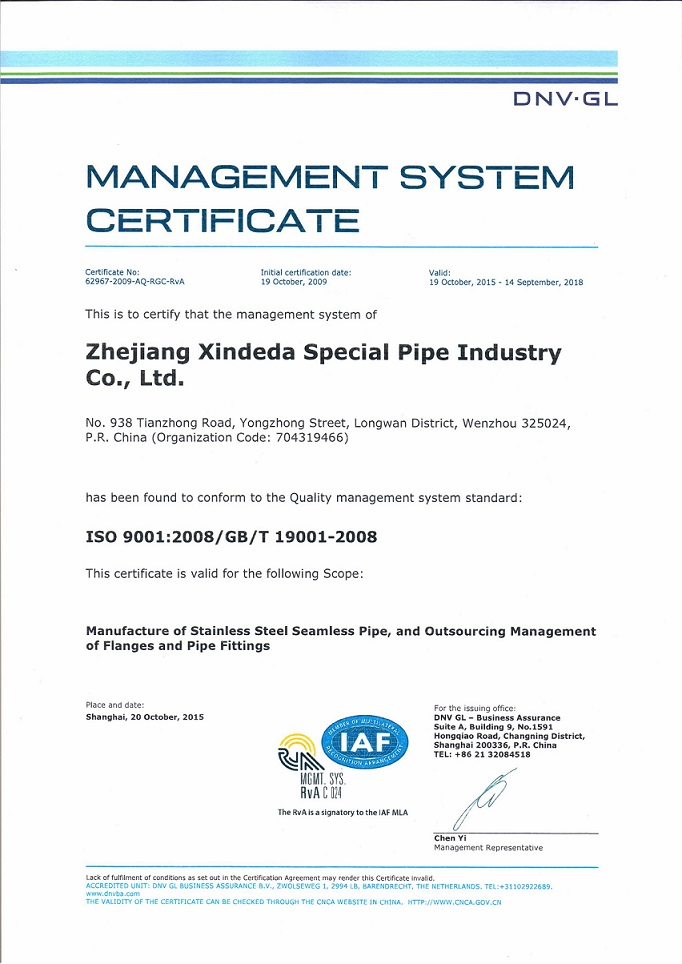 DNV ISO 9001:2008