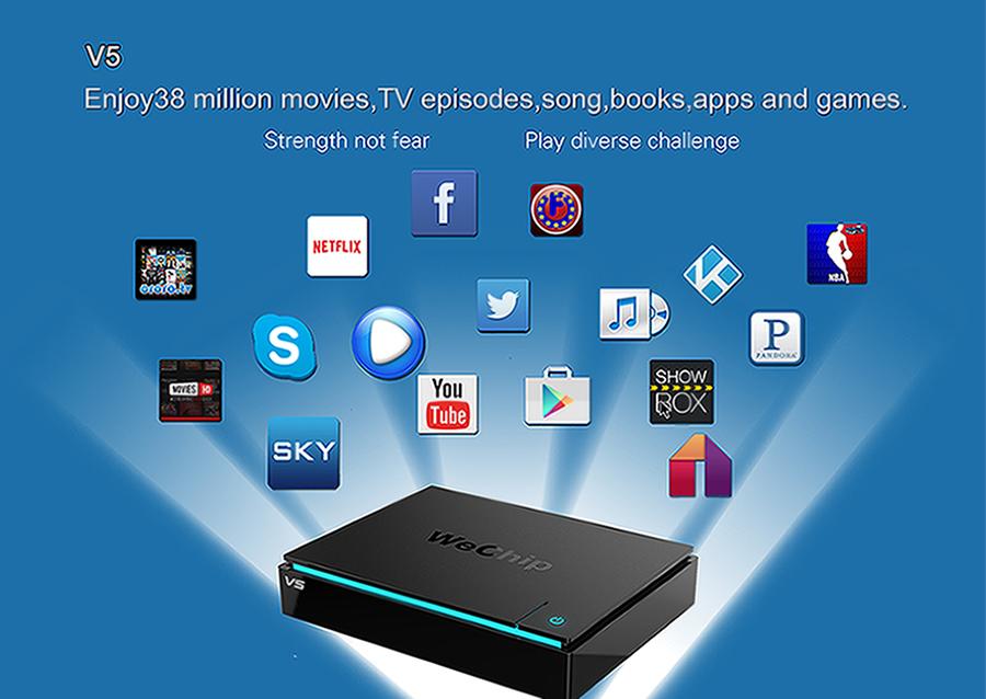 Pravite model wechip V5 android 6.0 smart tv box
