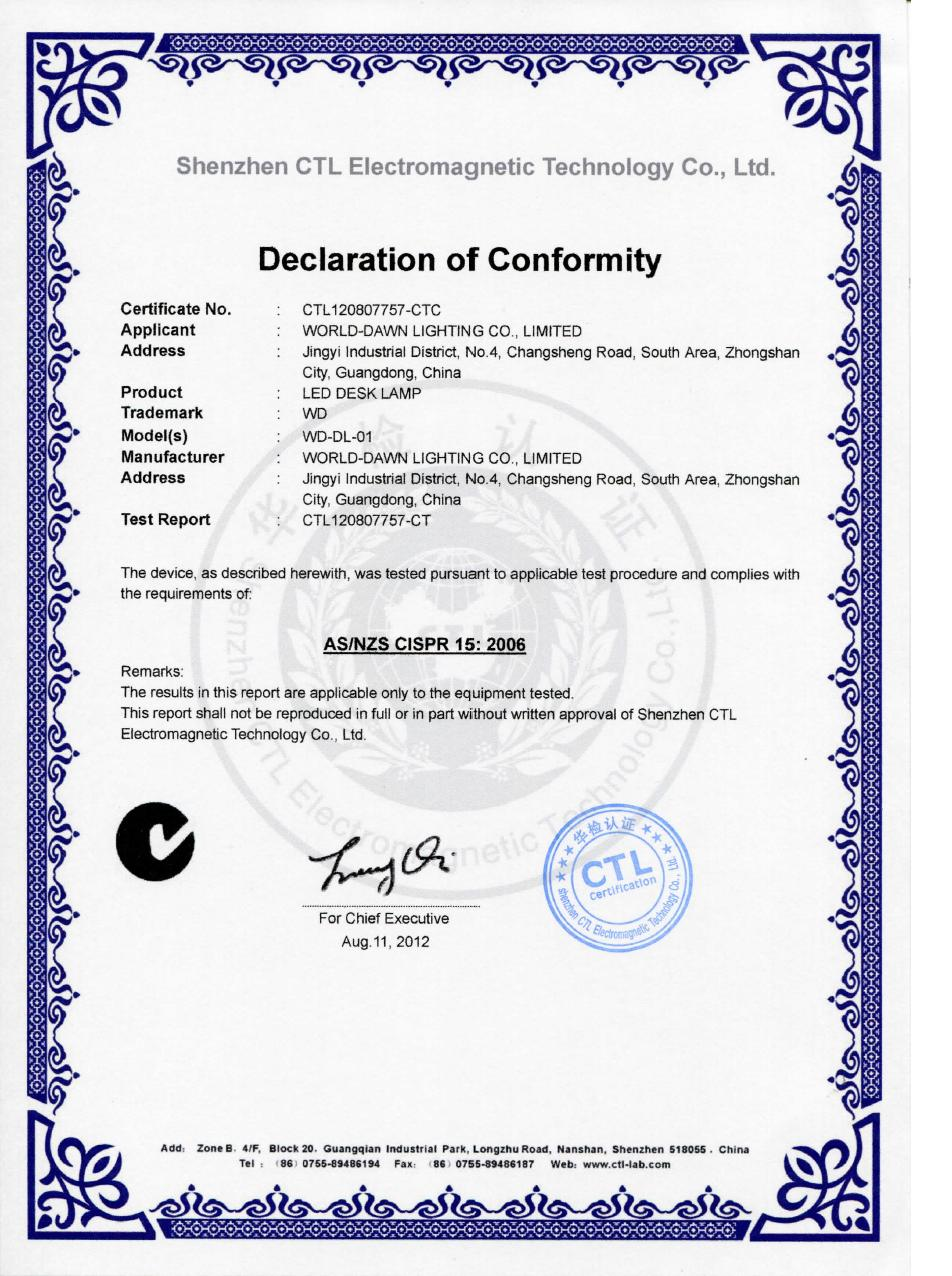 C certification homedecorideas story pole certification source c tick certification world dawn lighting co limited xflitez Image collections