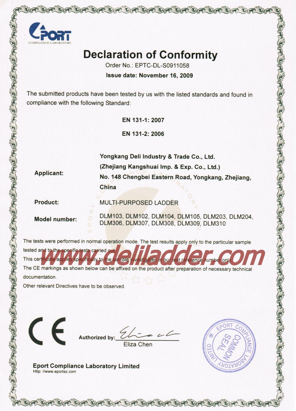 Mulit-function ladder EN 131 certificate