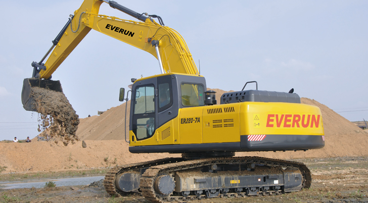 EVERUN Excavator works in Sweden