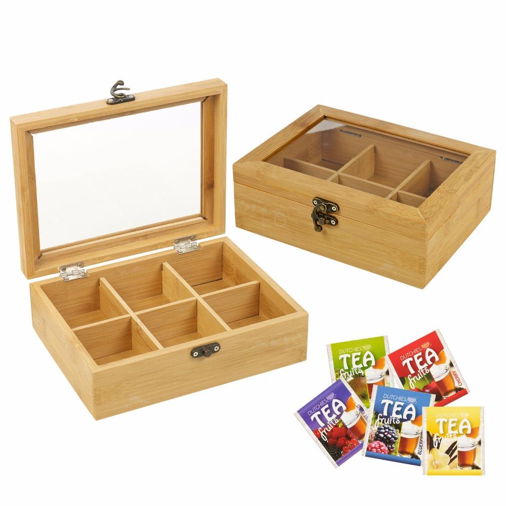 Eco-Friendly Wooden Tea Box Wood Storage Box