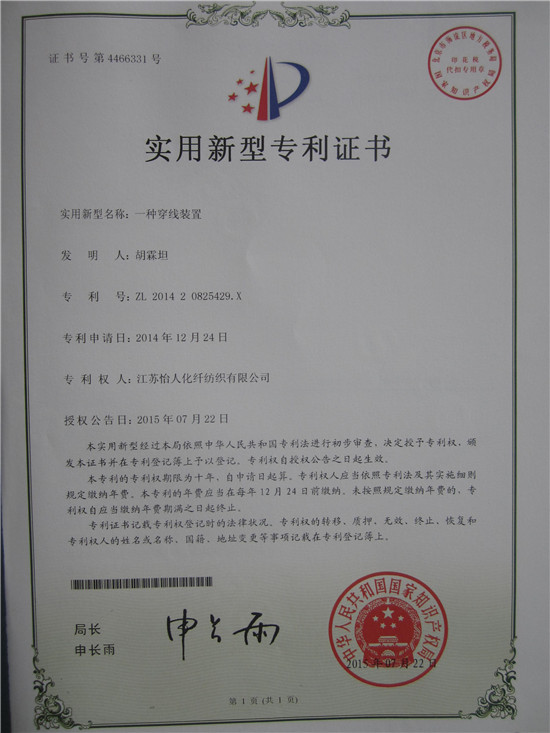 letter of patent 2