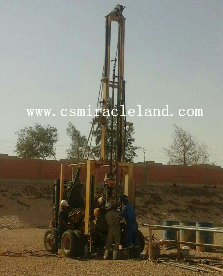 YZJ-300YY trailer type drilling rig is worked in Egypt for geotechnical investigation projects.
