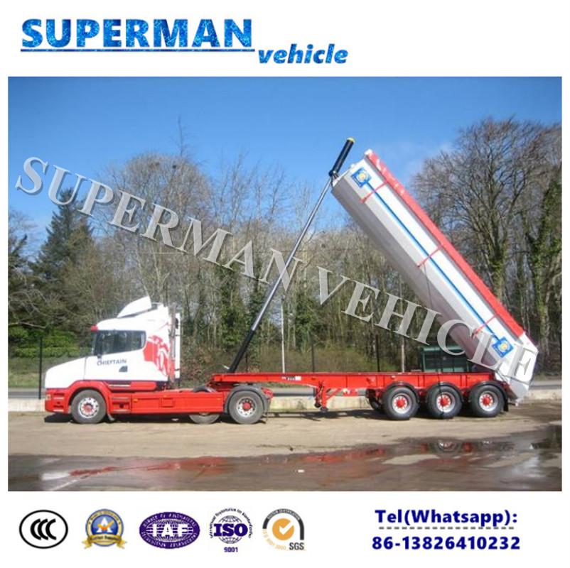 U-Shape Tipper Trailer Cargo Dumper Semi Truck Trailer for Sale