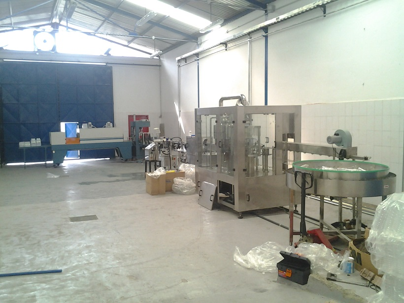 Complete 3000bph water filling line for 500ml bottle in Venezuela
