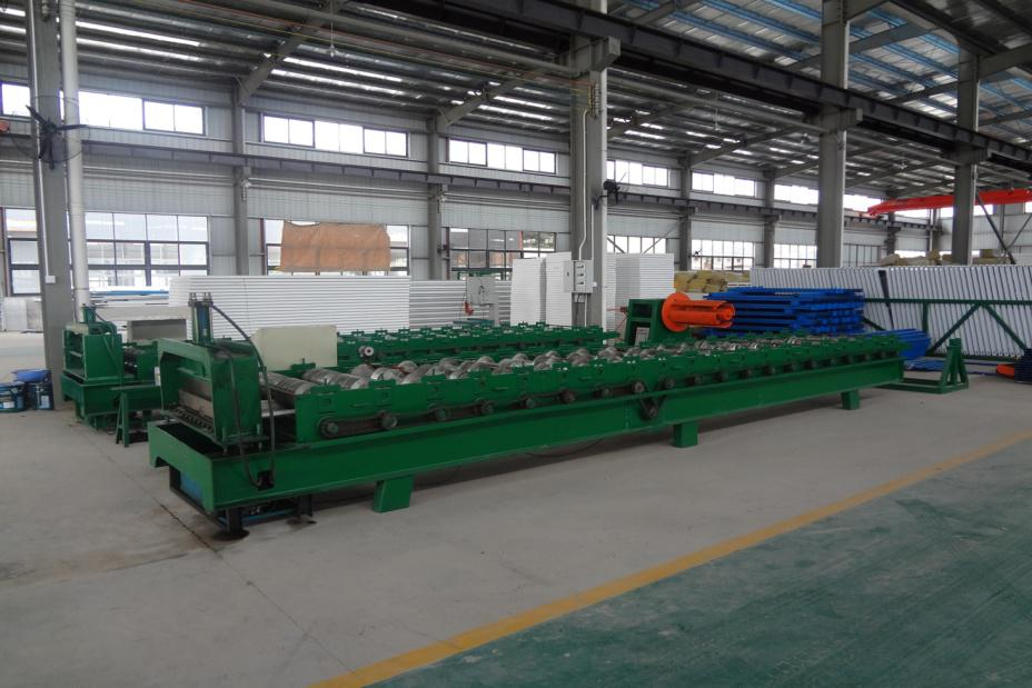 Steel plate machine