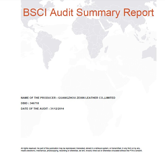 BSCI Approved #346718 by ABS