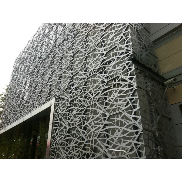 Power Coated Aluminum Facade Cutain Wall