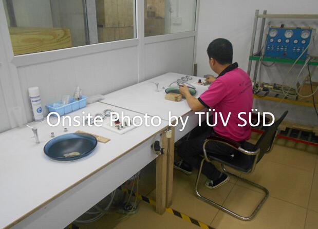 Dental handpiece test area