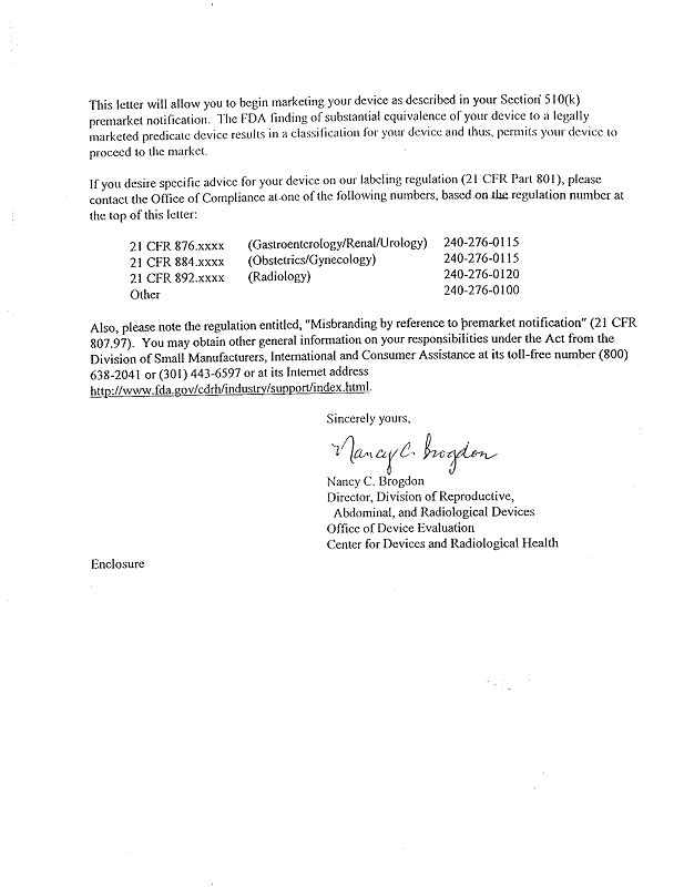 vaginal speculum FDA licence
